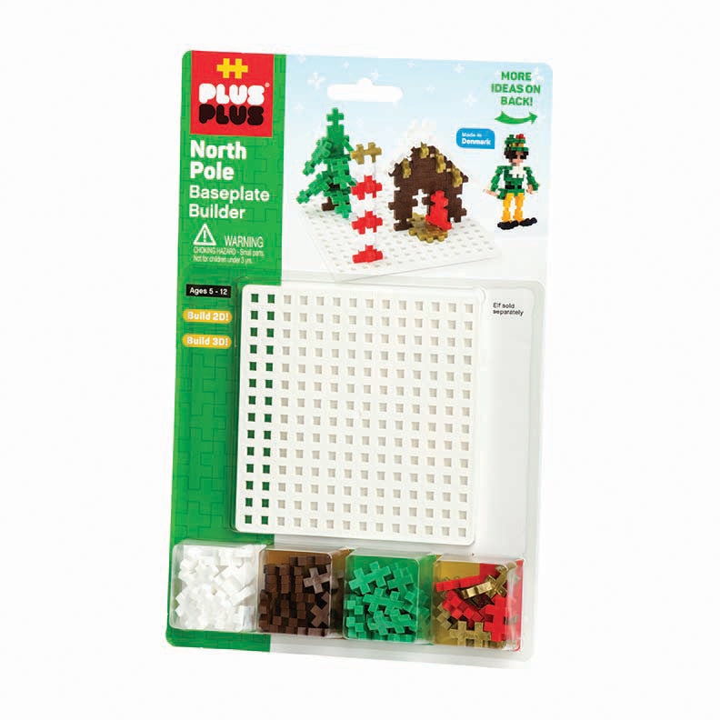 Bundle - 240 pc Holiday Tube & Baseplate Builder - North Pole
