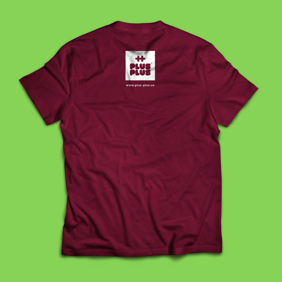 Plus-Plus Burgundy T-Shirt