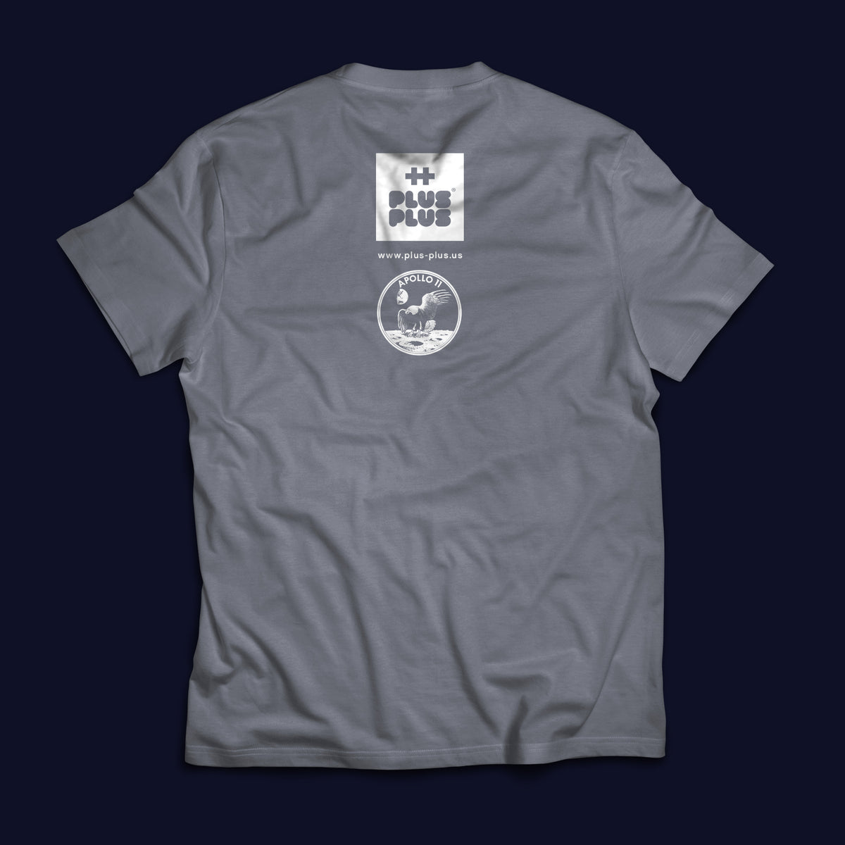 Plus-Plus Gray Moon T-Shirt