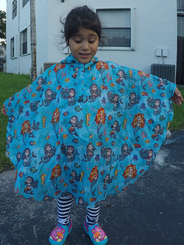 Waterproof Kids Rain Poncho