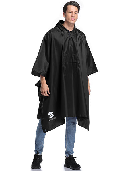 Men's Rain Poncho with Pocket