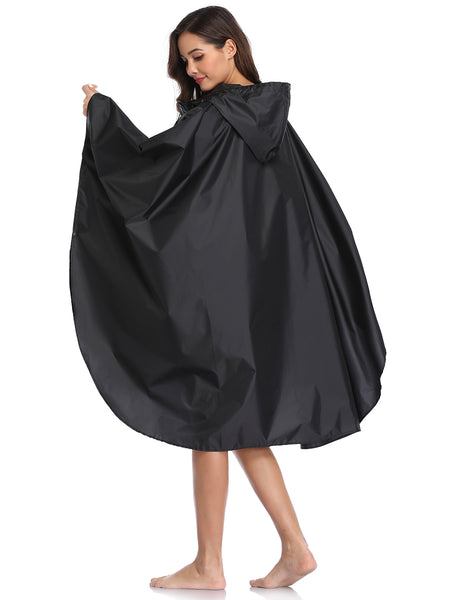 Full-length Zipper Rain Poncho for Adults