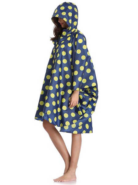 Yellow-Blue Polka Dot Raincoats