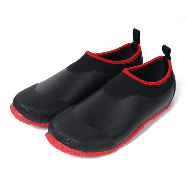 Adults Rubber Garden Shoes Red-Black