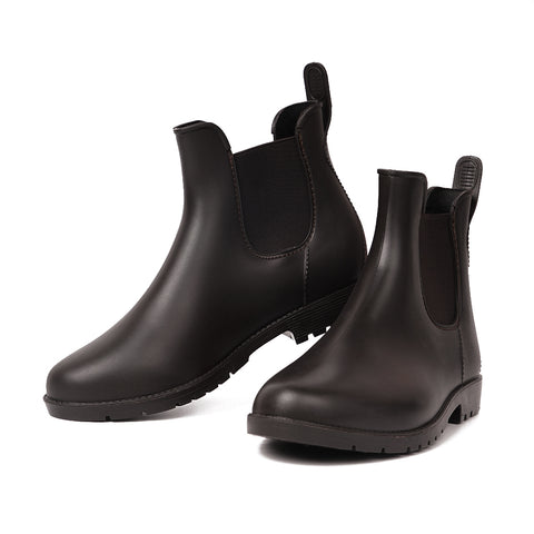 Ankle Chelsea Rain Boots Brown
