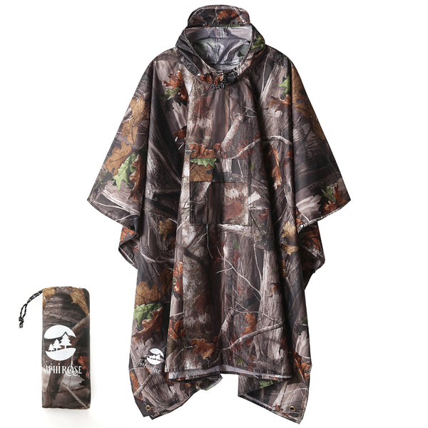 SaphiRose Forest Camouflage Rain Poncho (3 in1)