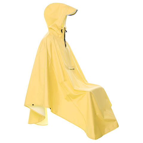 Yellow City Cycling Rain Poncho with Reflective
