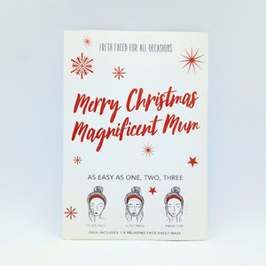 "Sheet Mask ""Merry Christmas Magnificient Mum"""