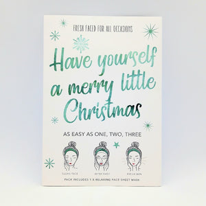 "Sheet Mask ""Have yourself a merry little Christmas"""