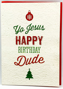 "Grußkarte ""Yo Jesus, Happy Birthday"""