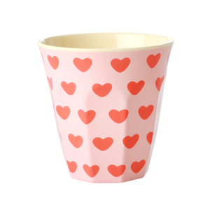 "Melamin Cup ""Hearts Pink"""