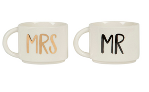 "Tassen Set ""Mr & Mrs"""