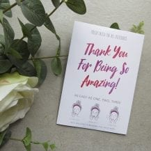 "Sheet Mask ""Thank You for Being so Amazing"""