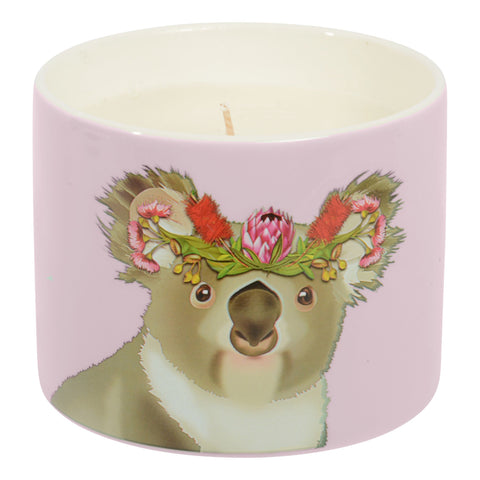 Scented Candle Rose and White Musk - Koala