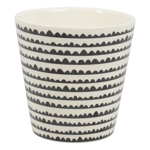Cabo Planter Pot - Wavy Black