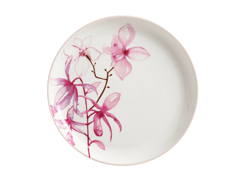 Pink Jungle Plate 25cm Orchid