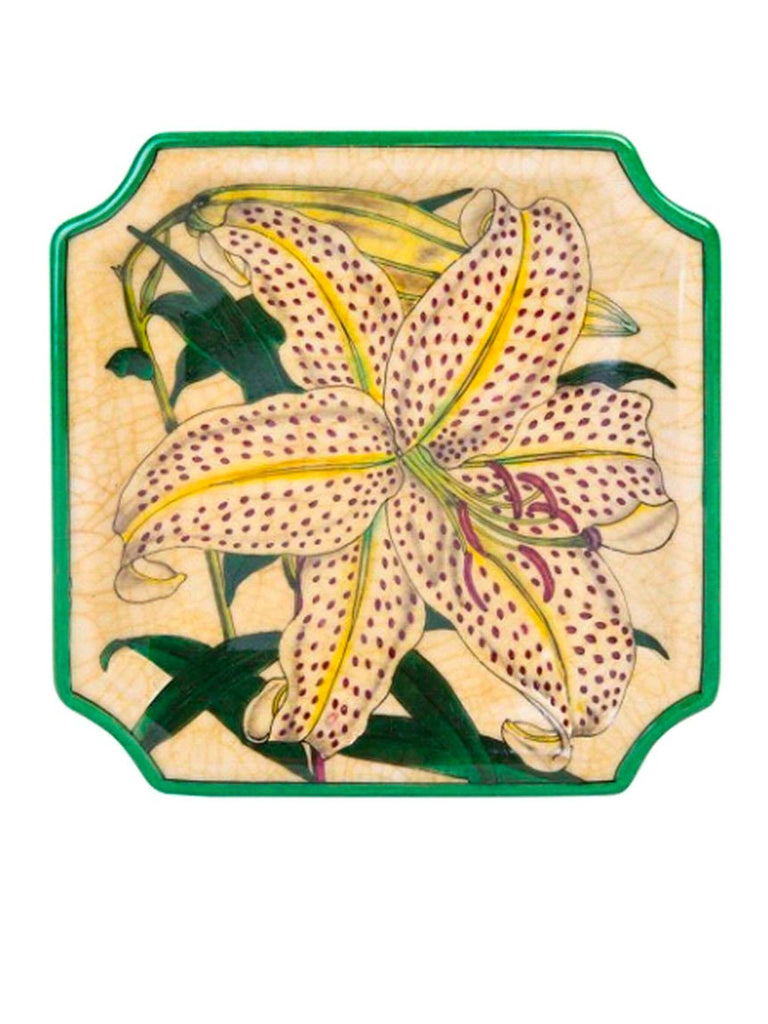 Porcelain Wall Plate Lilium by C.A.M. - Shop Charlies Interiors