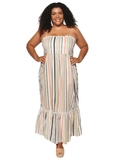 Maxwell Sun Dress in Safari Stripe 100% cotton