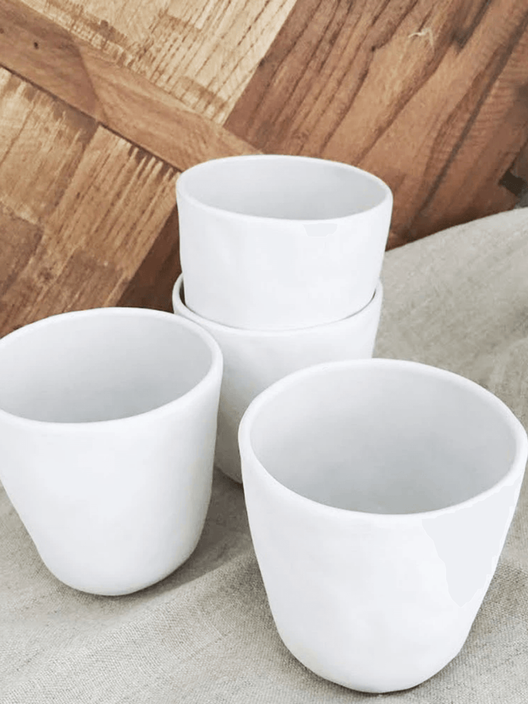White Ceramic Cup by Flax Ceramics 8.5cm - Shop Charlies Interiors