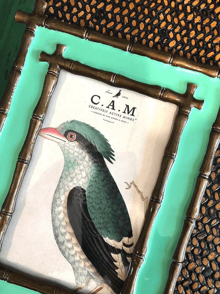 Green Ceramic Photo Frame Palacio by C.A.M. 16X21 cm - Shop Charlies Interiors
