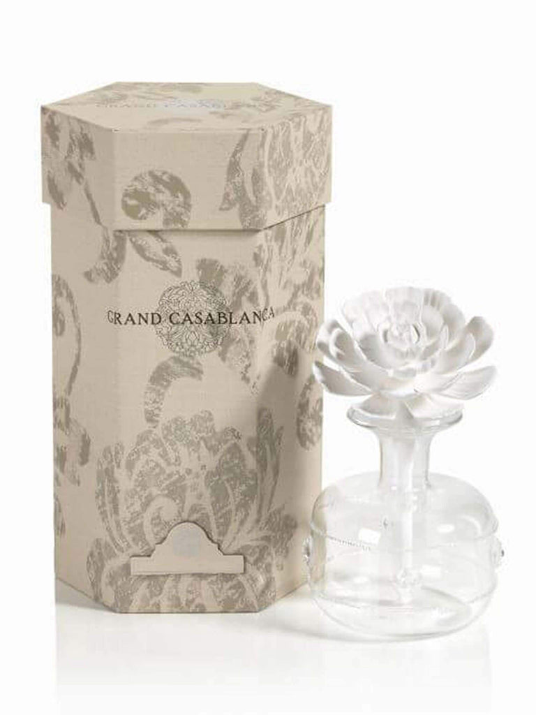 Large Grand Casablanca Porcelain Diffuser, Moroccan Peony