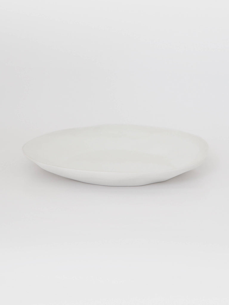 Flax Plate White - Shop Charlies Interiors