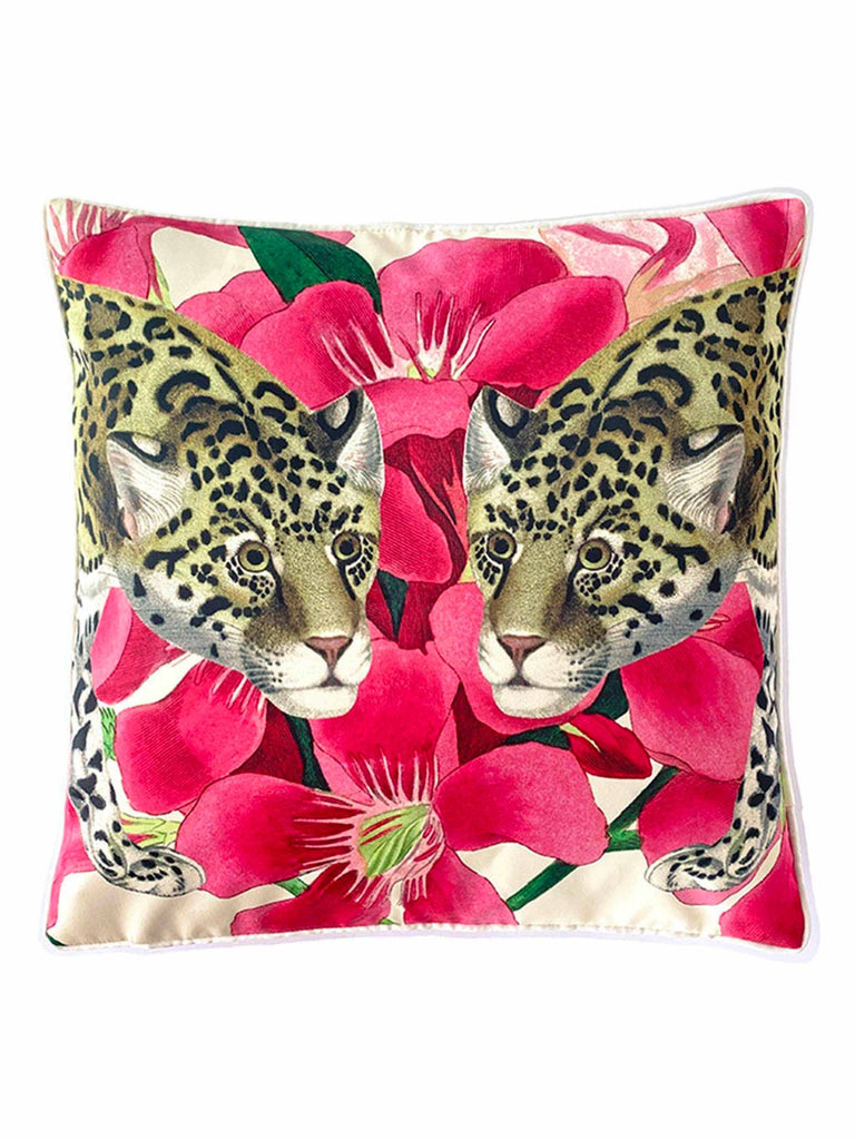 Cushion Cover Jaguar Pink by C.A.M.