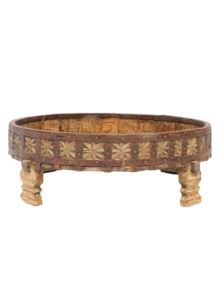 Wooden Chakki Coffee Table - Shop Charlies Interiors