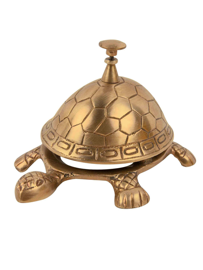 Solid Brass Tortunga  Bell by C.A.M. - Shop Charlies Interiors