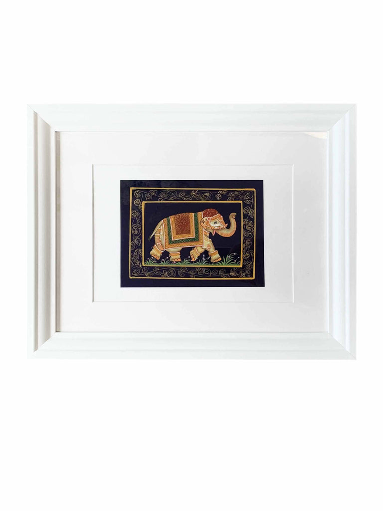 Indian Art Medium - Gold Elephant 1