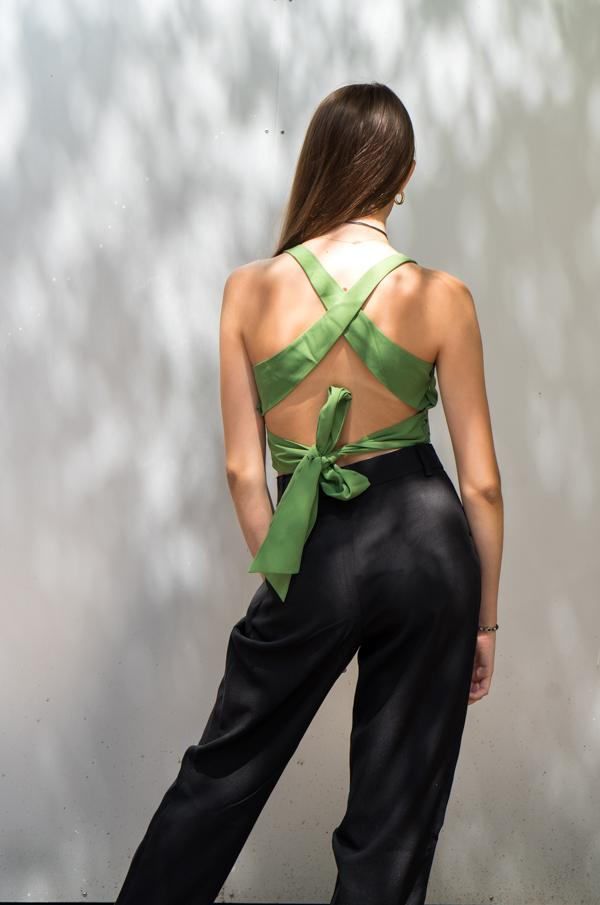 Crop top vert - NAKD vetements