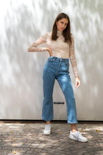 High waist straight jeans - NAKD vetements