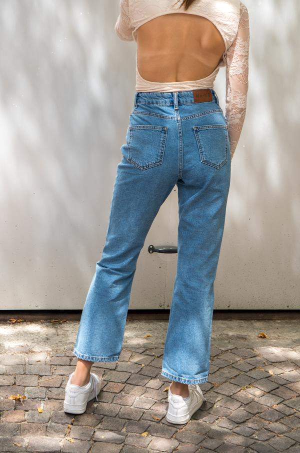 Charger l'image dans la galerie, High waist straight jeans - NAKD vetements