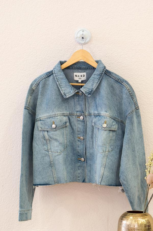 Load the image in the gallery,Cropped Oversized Denim Jacket
