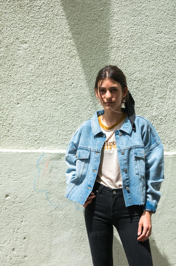 Charger l'image dans la galerie, Cropped Oversized Denim Jacket