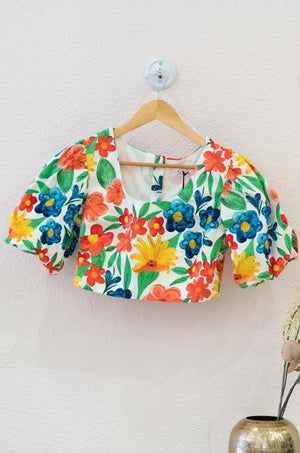 Load the image in the gallery,Ladies Top - Bright Floral