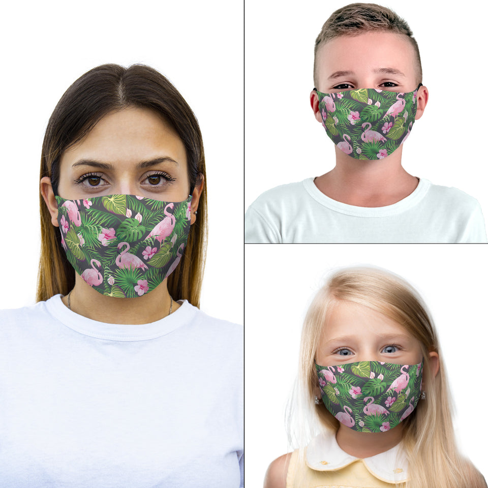 mouth mask flamingos