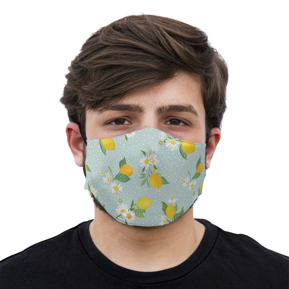 mouth mask lemon