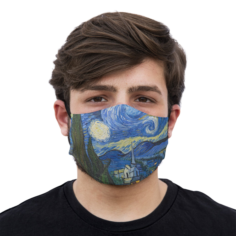 mouth mask starry night