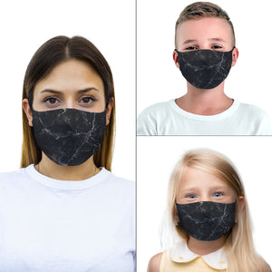 mouth mask black marmol