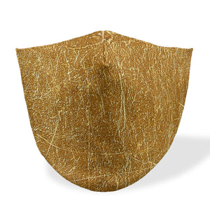 mouth mask golden scraf