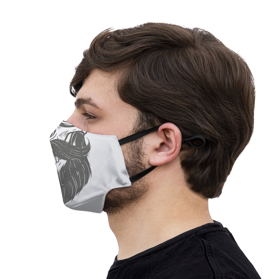 mouth mask skull moustache