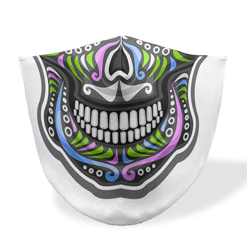 mouth mask calavera