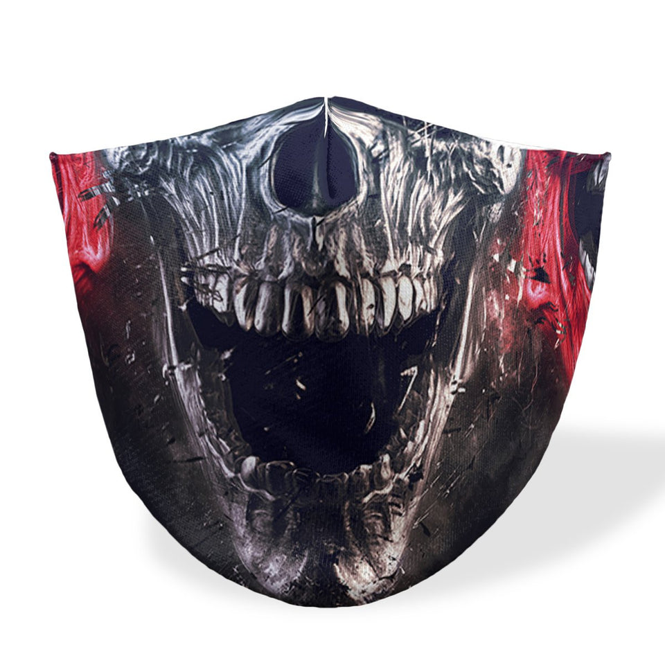mouth mask painted skull