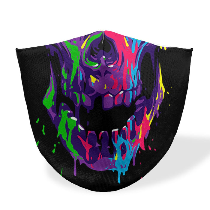 mouth mask colorfull skull