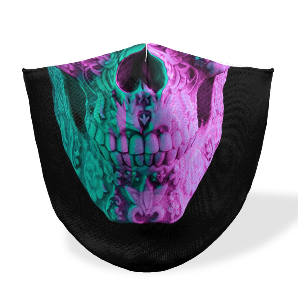 mouth mask double smile skull