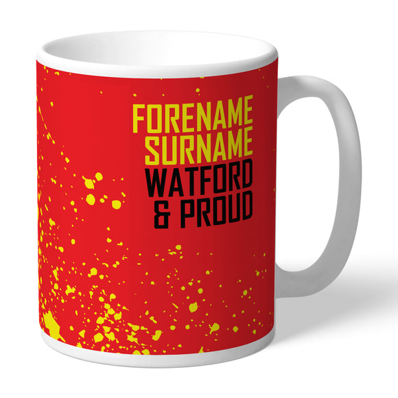 Personalised Watford FC Stripe Mouse Mat