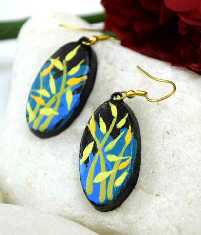 nature terracotta earrings