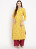Darzaania Yellow Printed Kurta For Women Online