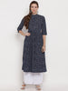 Blue Printed Kurtas For Women